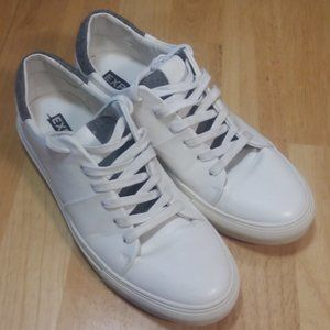 Express White Leather Boat Mens Sneaker size 8